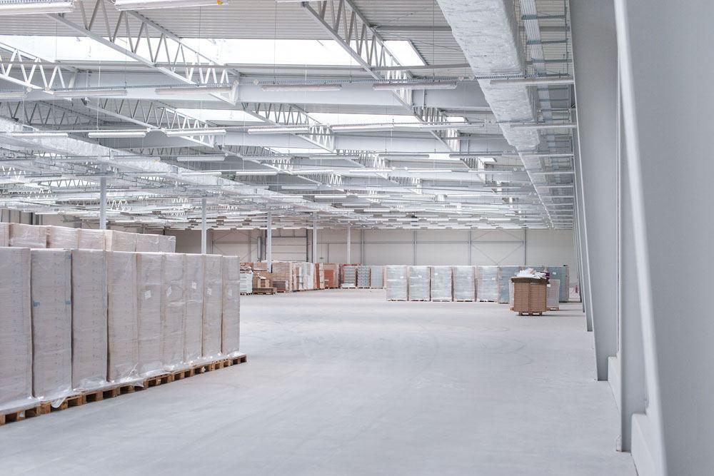 płatwie kratowe 5 - hala produkcyjna z budynkiem biurowym, dla Meblomaster, Węgrów, woj. mazowieckie