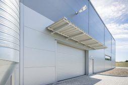 brama wjazdowa - hala produkcyjna z częścią biurową, dla Leann Stańczyk, Słupsk, woj. pomorskie