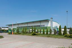 widok ogólny 1 - hala produkcyjna z częścią biurową, dla Markos, Słupsk, woj. pomorskie