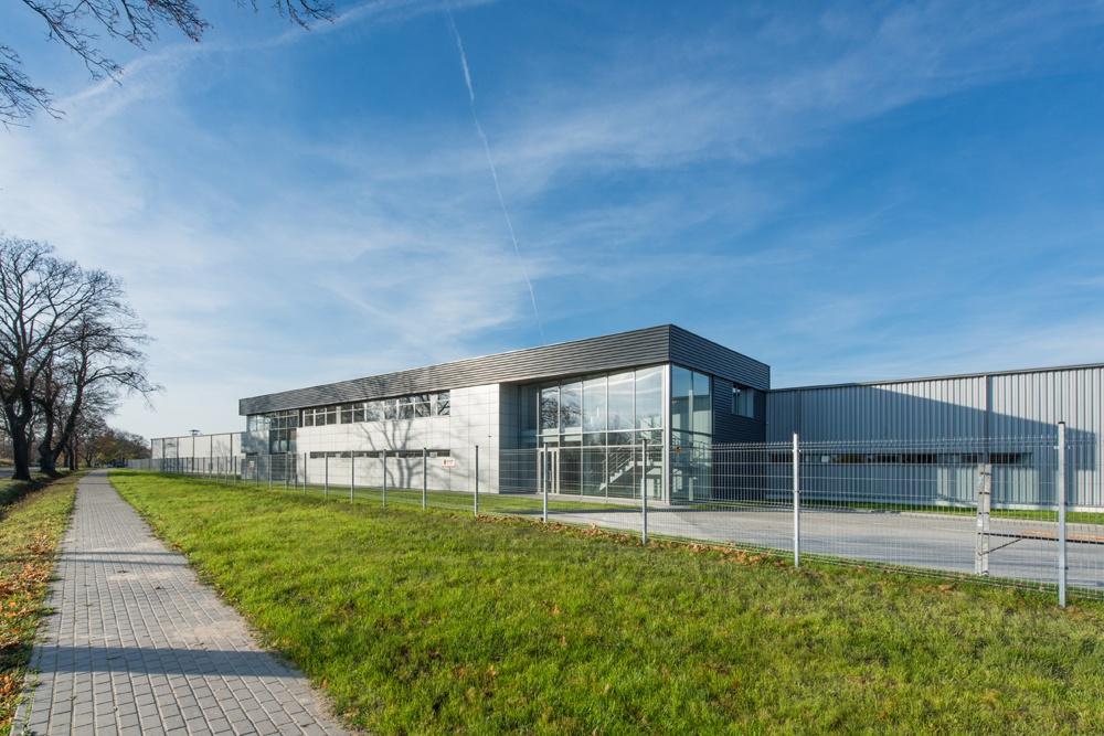 widok ogólny 3 - hala produkcyjno-magazynowa z budynkiem biurowym, dla Duomat, Choszczno, woj. zachodniopomorskie