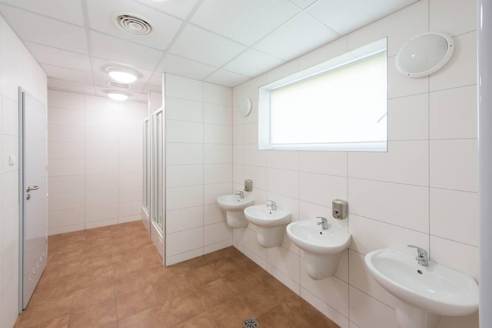 sanitariaty - hala produkcyjna z częścią socjalno-biurową, dla Danmar, Łódź, woj. łódzkie