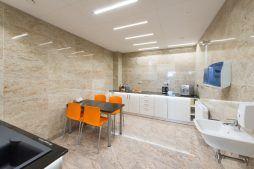 pomieszczenie socjalne - hala produkcyjno-magazynowa z budynkiem biurowym, dla Polamp, Bieniewiec, woj. mazowieckie