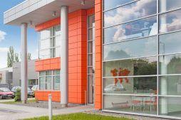 przeszklenia na elewacji frontowej 3 - hala produkcyjno-magazynowa z budynkiem biurowym, dla Viva Plus, Bytom