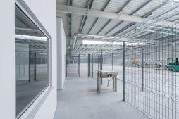 wnętrze hali - hala produkcyjno-magazynowa z budynkiem biurowym, dla Duomat, Choszczno, woj. zachodniopomorskie
