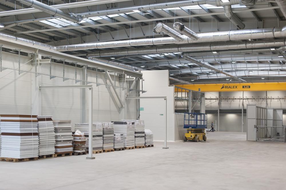 wnętrze hali 1 - hala produkcyjna, dla Rotox, Pokój, woj. opolskie