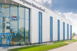 elewacja boczna 1 - hala handlowa, dla Koopman International, Komorniki, woj. wielkopolskie