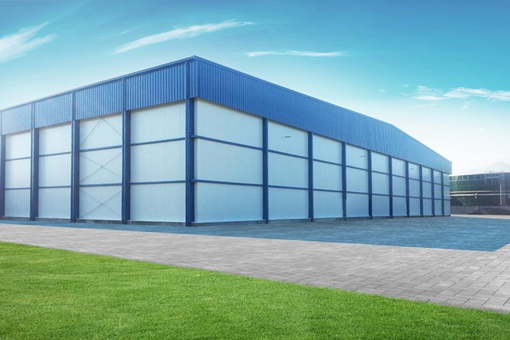 ściana boczna i tylna - hala produkcyjna z budynkiem biurowym, dla Futrex, Żdżary, woj. zachodniopomorskie