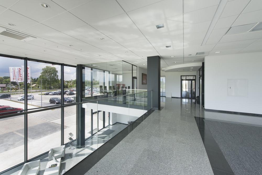 korytarz - hala produkcyjna z budynkiem biurowym, dla Adams, Mrągowo, woj. warmińsko-mazurskie