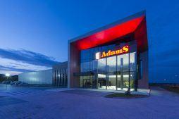 elewacja frontowa 2 - hala produkcyjna z budynkiem biurowym, dla Adams, Mrągowo, woj. warmińsko-mazurskie