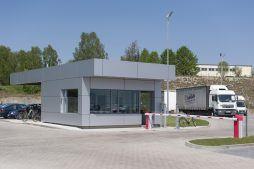 stróżówka - hala produkcyjna z budynkiem biurowym, dla Adams, Mrągowo, woj. warmińsko-mazurskie