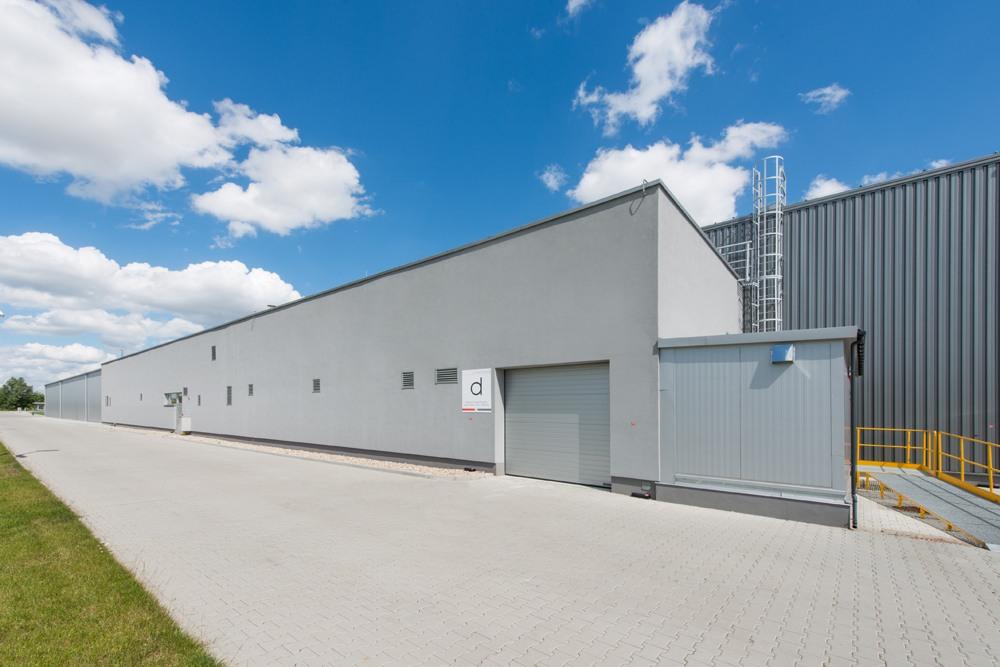 hala stalowa 1 - hala produkcyjna z budynkiem biurowym, dla Uniservice, Skarbimierz, woj. Opolskie