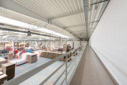 widok wnętrza - hala produkcyjna z budynkiem biurowym, dla Uniservice, Skarbimierz, woj. Opolskie
