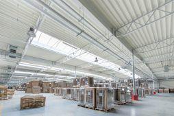 widok wnętrza 4 - hala produkcyjna z budynkiem biurowym, dla Uniservice, Skarbimierz, woj. Opolskie