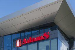 zbliżenie na logo inwestora - hala produkcyjna z budynkiem biurowym, dla Adams, Mrągowo
