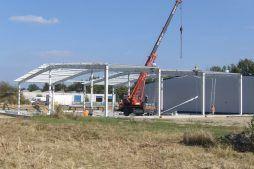 wznoszenie konstrukcji stalowej 2 - rozbudowa hali produkcyjnej, dla OML Morando, Czerwionka-Leszczyny