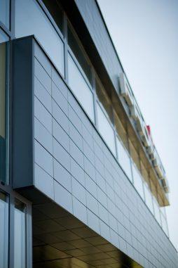 detal elewacyjny 1 - hala produkcyjno-magazynowa z budynkiem biurowym, dla Promens, Międzyrzecz, woj. lubuskie