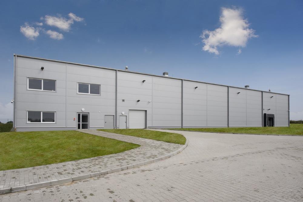 elewacja przednia - hala produkcyjna z budynkiem biurowym, dla NWM, Gubin, woj. lubuskie