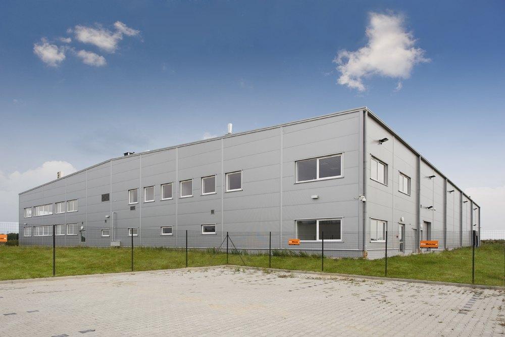 elewacja boczna - hala produkcyjna z budynkiem biurowym, dla NWM, Gubin, woj. lubuskie