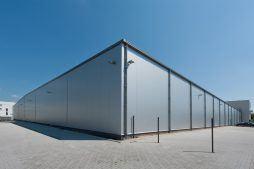widok hali stalowej 1 - hala magazynowa z budynkiem biurowym, dla Refleks, Białystok, woj. podlaskie