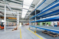 wnętrze obiektu - hala produkcyjna, dla Rollico Rolling Components, Lubliniec, woj. śląskie