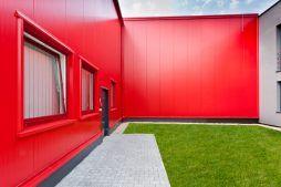 fragment patio - hala produkcyjna, dla Rollico Rolling Components, Lubliniec, woj. śląskie