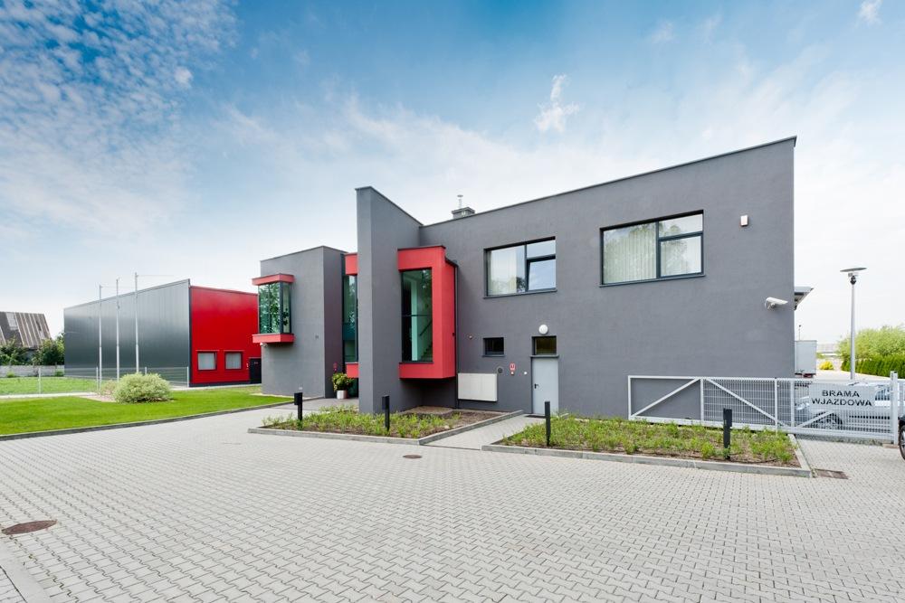 elewacja frontowa 1 - hala produkcyjna, dla Rollico Rolling Components, Lubliniec, woj. śląskie