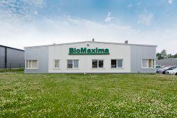 elewacja frontowa - hala produkcyjna z częścią biurową, dla BioMaxima, Lublin, woj. lubelskie