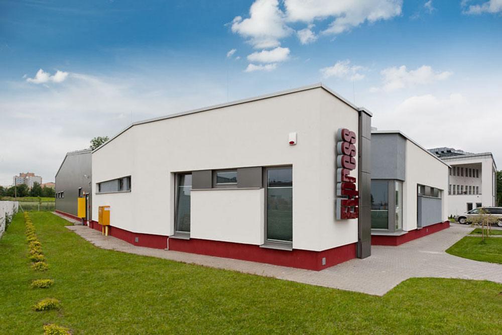 widok ogólny 3 - hala produkcyjna z budynkiem biurowym, dla El-press, Lublin, woj. lubelskie