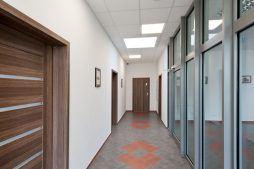 korytarz - hala produkcyjna z budynkiem biurowym, dla El-press, Lublin, woj. lubelskie