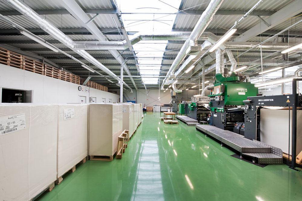 wnętrze hali 2 - hala produkcyjna z budynkiem biurowym, dla El-press, Lublin, woj. lubelskie