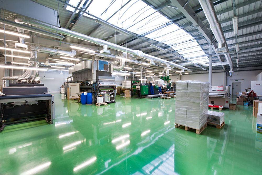 wnętrze hali 3 - hala produkcyjna z budynkiem biurowym, dla El-press, Lublin, woj. lubelskie