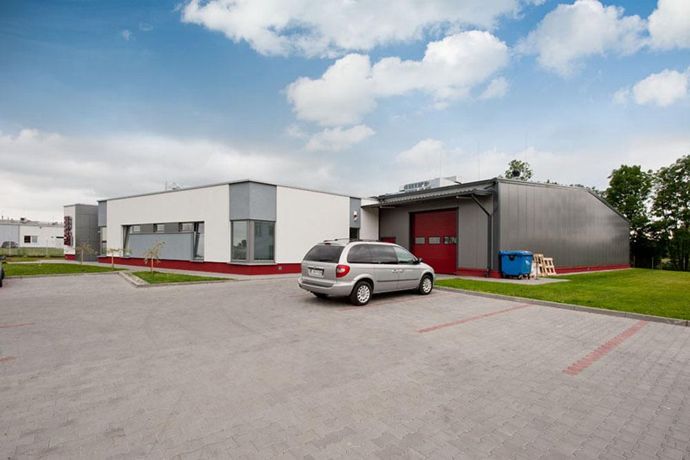 widok ogólny 5 - hala produkcyjna z budynkiem biurowym, dla El-press, Lublin, woj. lubelskie