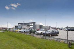 widok ogólny 3 - hala produkcyjna z budynkiem biurowym, dla Eurocolor, Pyskowice, woj. śląskie