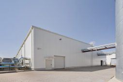 widok ogólny 1 - hala produkcyjna z zapleczem biurowym, dla Korona SA, Wieluń, woj. łódzkie