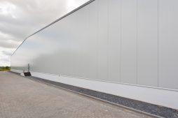 fasada boczna - hala produkcyjna, dla Pilawa, Kołobrzeg, woj. zachodniopomorskie