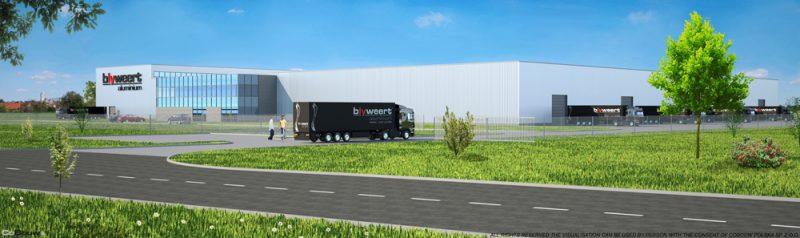 Realizacja kompleksu hal dla belgijskiej firmy Blyweert Aluminium Sp.zo.o.