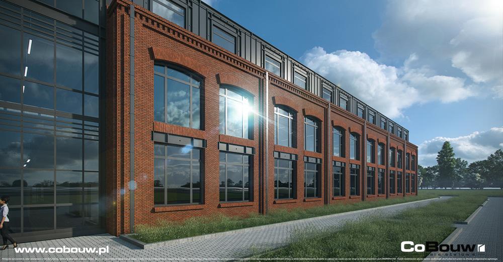 witryny części biurowej - kompleks produkcyjno-magazynowy, Fabryka Flag Linea, Koszalin