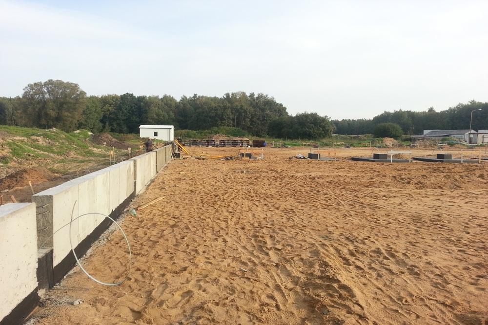 wykonanie podbudowy pod posadzkę - hala produkcyjna z budynkiem biurowym, dla Futrex, Żdżary