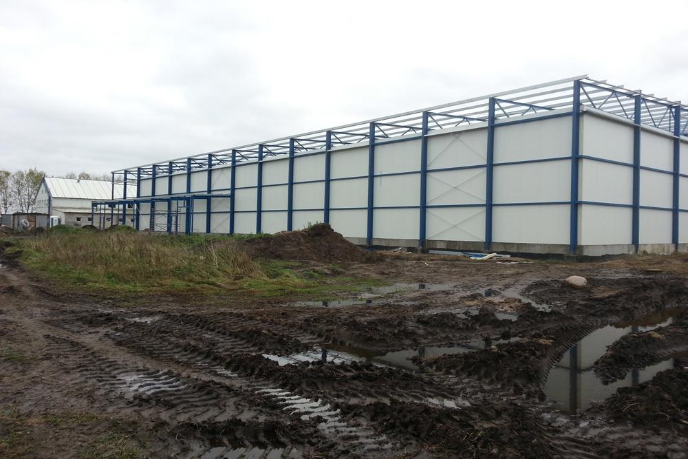 hala w konstrukcji stalowej - hala produkcyjna z budynkiem biurowym, Żdżary, dla Futrex