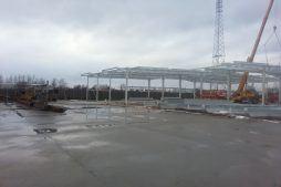 plac budowy - hala produkcyjna, dla Auto-Hak, Słupsk, woj. pomorskie