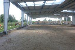 konstrukcja stalowa widziana od wewnątrz 2 - hala produkcyjno-magazynowa, dla Drewco, Chojna