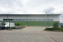 jedna z elewacji 2 - hala produkcyjna z częścią biurową, dla Markos, Słupsk, woj. pomorskie