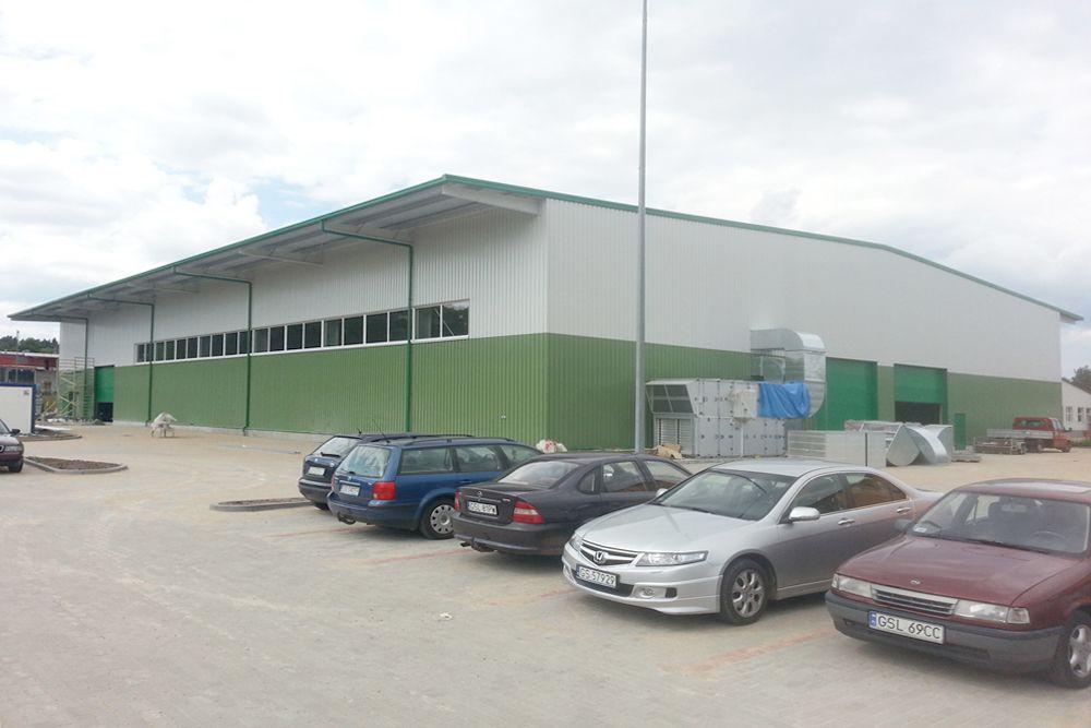 widok ogólny 11 - hala produkcyjna z częścią biurową, dla Markos, Słupsk, woj. pomorskie