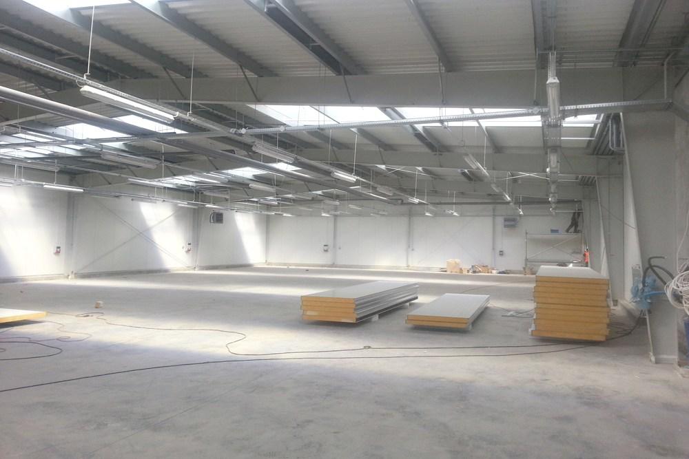 wnętrze obiektu 2 - hala produkcyjno-magazynowa, dla Drewco, Chojna, woj. zachodniopomorskie