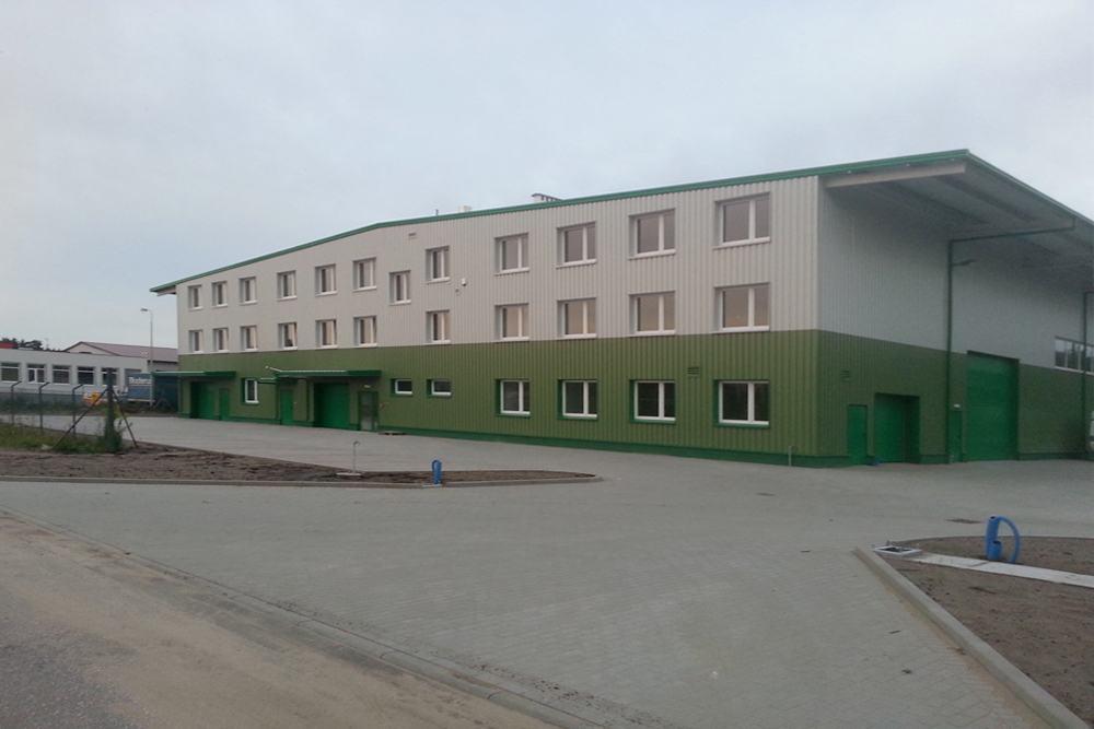 widok ogólny 10 - hala produkcyjna z częścią biurową, dla Markos, Słupsk, woj. pomorskie