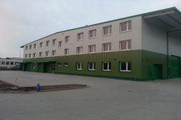 widok ogólny 16 - hala produkcyjna z częścią biurową, dla Markos, Słupsk, woj. pomorskie