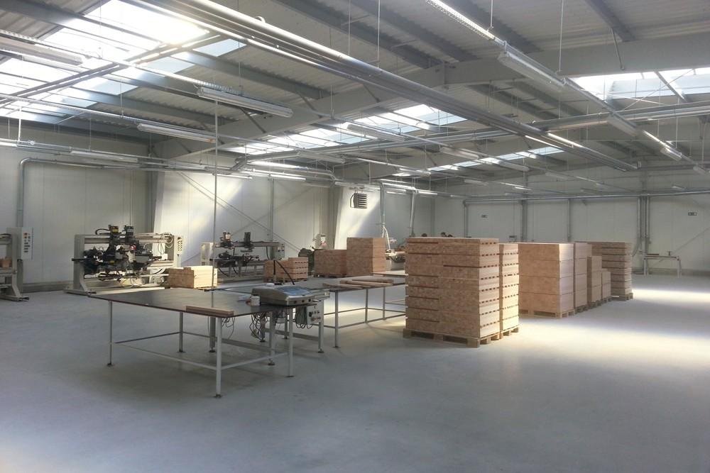 wnętrze obiektu 6 - hala produkcyjno-magazynowa, dla Drewco, Chojna, woj. zachodniopomorskie
