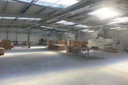wnętrze obiektu 7 - hala produkcyjno-magazynowa, dla Drewco, Chojna, woj. zachodniopomorskie