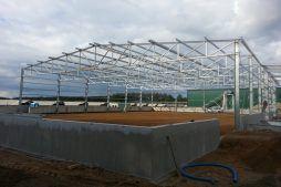 konstrukcja stalowa budynku - hala magazynowa, dla Inwestora zagranicznego, Radachów, woj. lubuskie