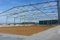 konstrukcja stalowa widziana od frontu - hala magazynowa, dla Inwestora zagranicznego, Radachów